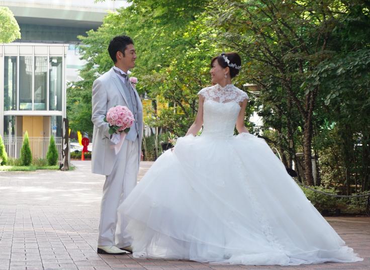リッツカールトン大阪のコスチュームサロンで選んだウエディングドレス